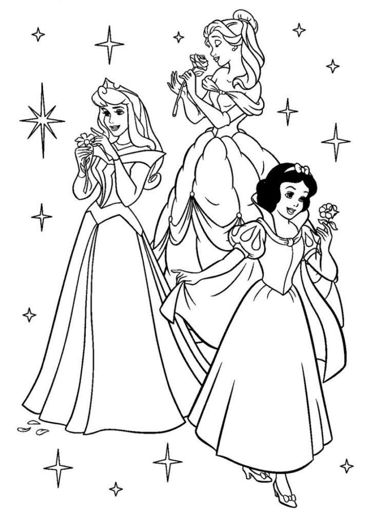 Princesa para colorir e imprimir