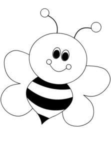 desenho abelha colorir e pintar