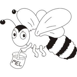 desenho abelha para pintar