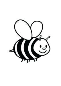 desenho abelha voando