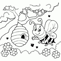 desenho de abelha infantil
