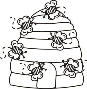 desenho de colmeia de abelhas