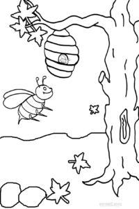 desenho de colmeia para colorir