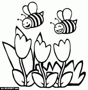 desenho de uma abelha para pintar