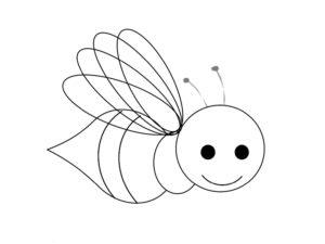 imagem de abelha para colorir